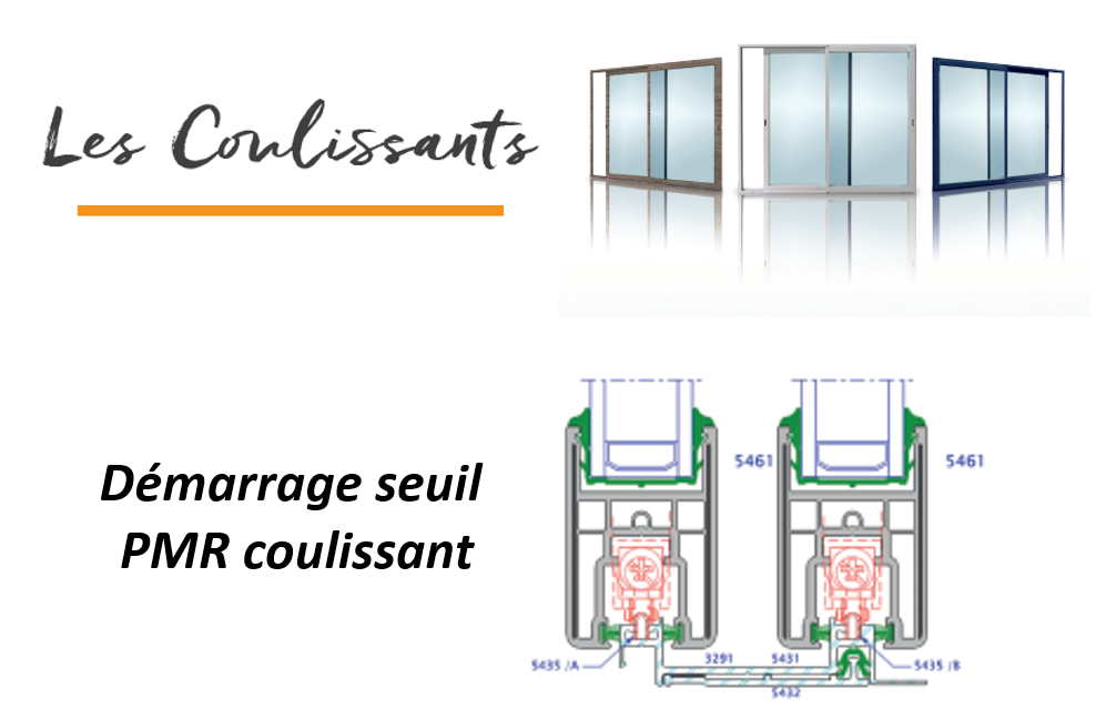 Seuil PMR coulissants